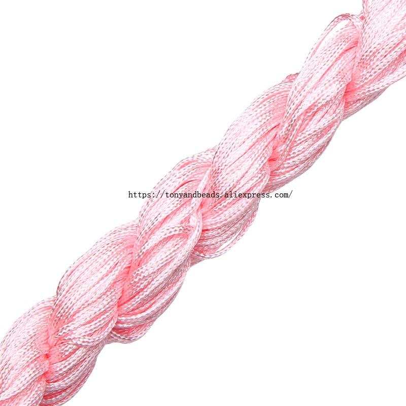 1 x White Rubber Elastic Beading Cord Thread String 1 mm W2X6