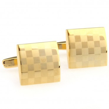 Square Gold Laser Cufflink 15 Pairs Free Shipping