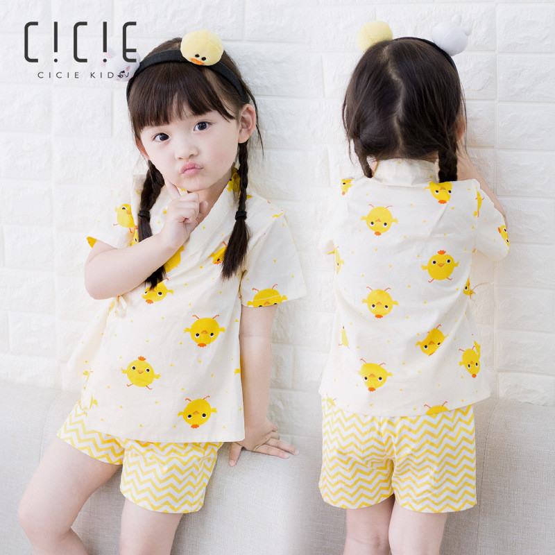 все цены на brand Toddler Kids Cartoon Blouse Shorts Suit for Baby Girls Summer Chick Printing Clothes Sets 2018 Brand Shirts Tops Pant