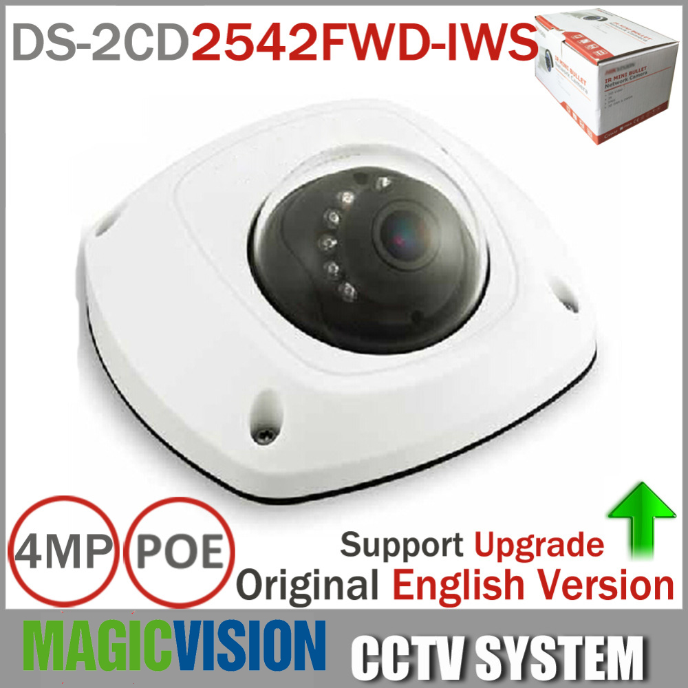 HikvisionEnglish Version Mini Dome Wireless IP Network Camera DS-2CD2542FWD-IWS Full HD 4MP Built-in Mic Audio Input WDR Support dhl free shipping in stock new arrival english version ds 2cd2142fwd iws 4mp wdr fixed dome with wifi network camera page 9