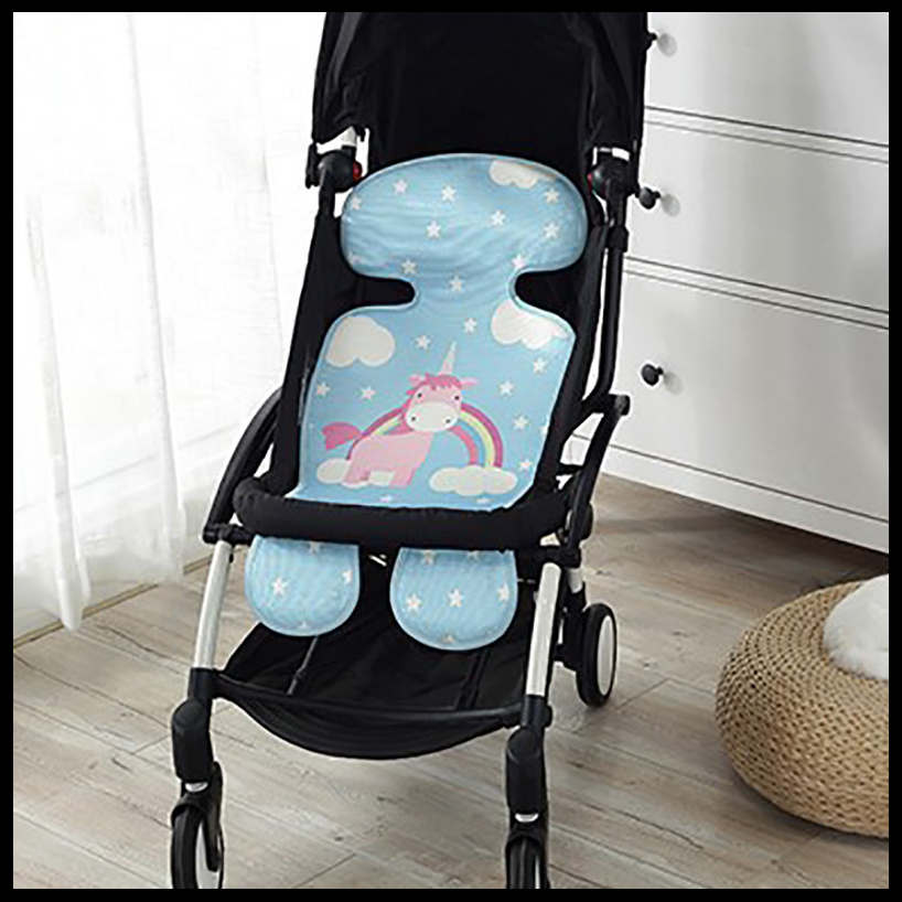 New Summer Baby Stroller Accessories Lovely Breathable Cool Stroller Pad Colorful Baby Stroller