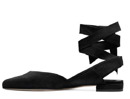 As Slingbacks Show as Fille Pointu Suédé Talon Chaussures Cheville Gladiateurs Designers Ballet Bout Bas Show Peu Casual Chunky Sangle Profonde Rome TZRWxqn