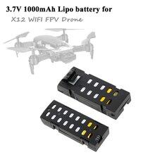M69 M69G RC Drone 3.7V 1000mAh Lipo Battery for X12 Wifi FPV Drone Quadcopter Sp