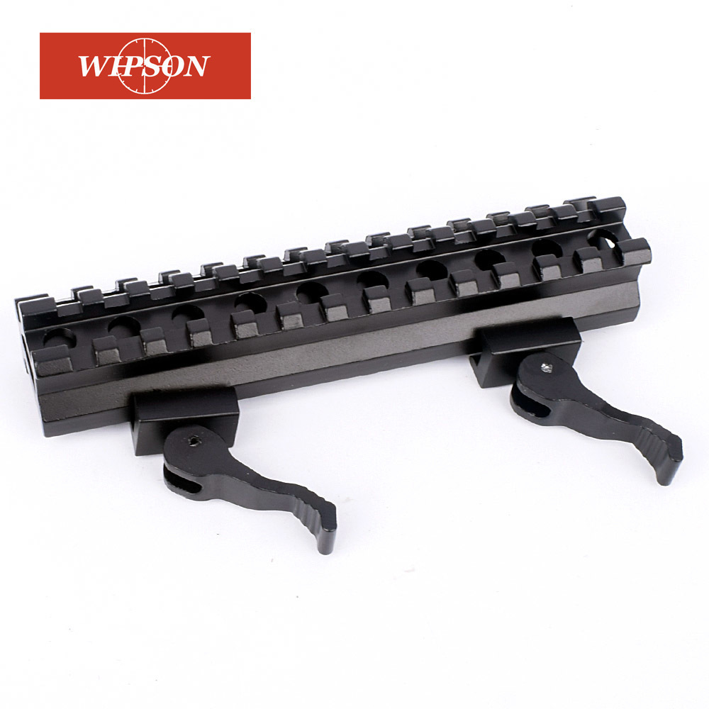 WIPSON Tactical Riser Mount Quick Detach Double Rail 20mm Standard Picatinny Rail For Hunting Rifle Airsoft Of Gun Accessories