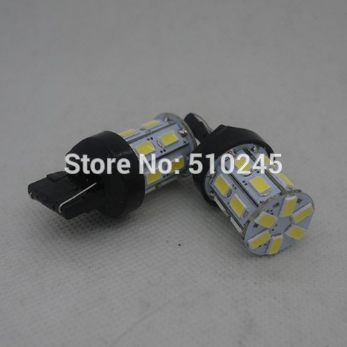 100 x new arrival auto LED Car Brake Rear Stop Light Bulb Lamp T20 7440 20 SMD 5630 LED 360 Lighting 12V white free shipping