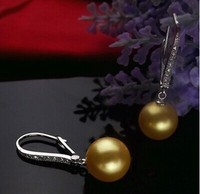 925 silver real natural big Freshwater pearl ear hook 10 11 12mm 925 sterling silver earrings pearl earrings Korean Fashion Earr