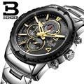 Швейцарские мужские часы Роскошные Брендовые Часы Бингер кварцевые мужские часы многофункциональные военные мужские часы с секундомером ...