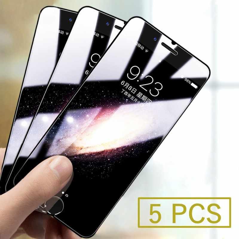 5 sztuk/partia ochronne szkło hartowane na ekran dla iPhone 11 Pro X XS MAX XR 8 7 6 6S Plus 5 5S SE 4 Premium ochronna, folia hartowana