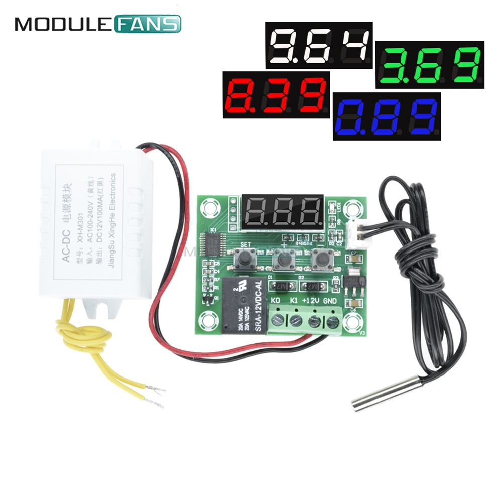 W1209 Ac 110v-220v Led Digital Thermostat Temperature Control Thermometer Thermo Controller Switch Module W/ Power Supply Ac-dc Tools