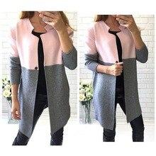 The new arrival women coat full sleeve patcwork single button slim regular O-neck
