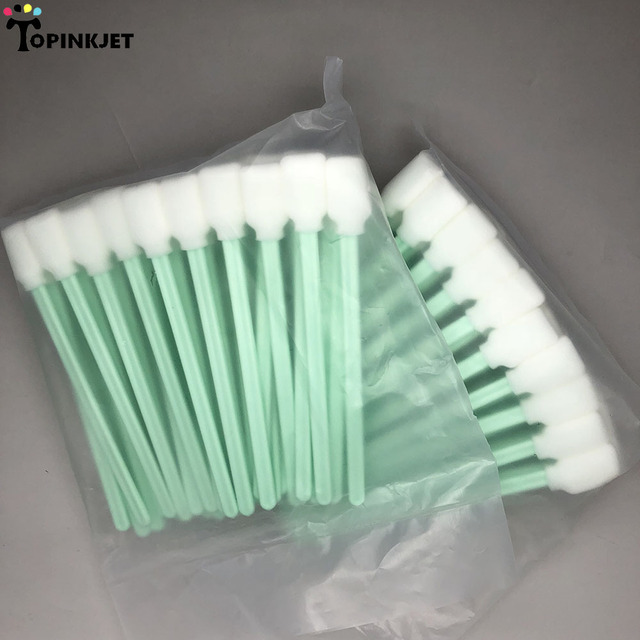 50pcs Foam Sponge Cleaning Swab for Roland Mimaki Mutoh Large format Inkjet Printer Stick for Epson DX4 DX5 Print Head cleaning Office & School Supplies