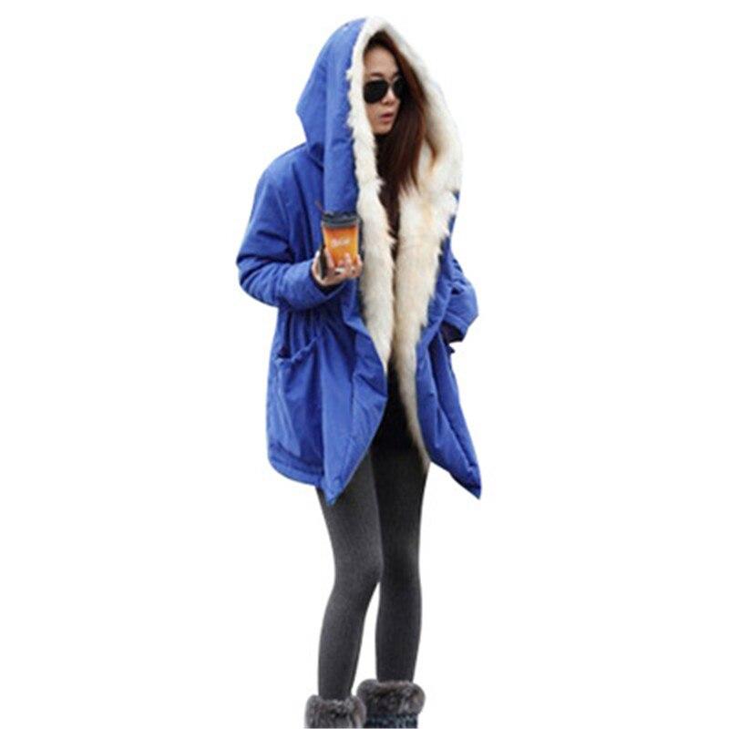 Taille Explosion Section Coton Mode Modèles Chaud D'hiver blue Fourrure Lâche Rembourré Collier Manteau red Longue Grande De Black Costume Automne Et 2018 XqTvw