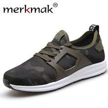 Merkmak супер новые 2017 мужчин повседневная обувь холст камуфляж star стиль мужской обуви комфорт мягкая прогулки вождения обувь мужская обувь