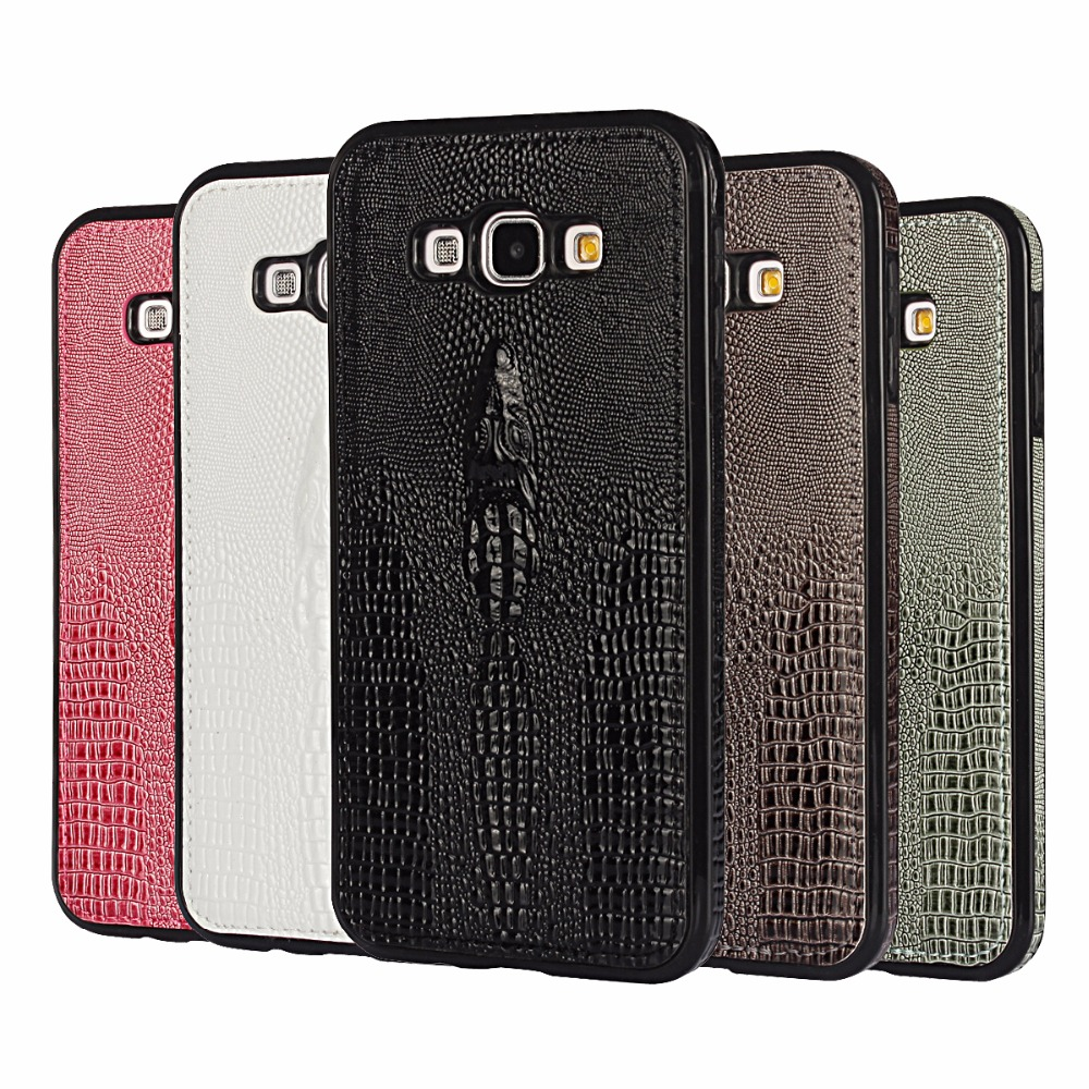 szHAIyu A8 Cover -- 2017 New 3D Crocodile Head Pattern PU Leather Mobile Phone Case For Samsung Galaxy A8 Back Cover Shell