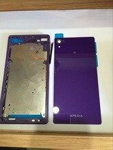 For Z2 L50W D6502 D6503 D6543 Bezel Middle Frame+Rear Back Glass Housing Battery Cover Parts
