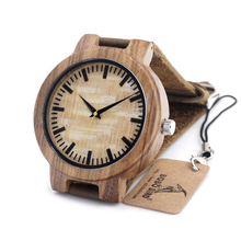 High model luxurious BOBO BIRD C20 New Classic Spherical Bamboo Wooden Quartz Watches With Actual Leather-based Bands Womens Mens watches