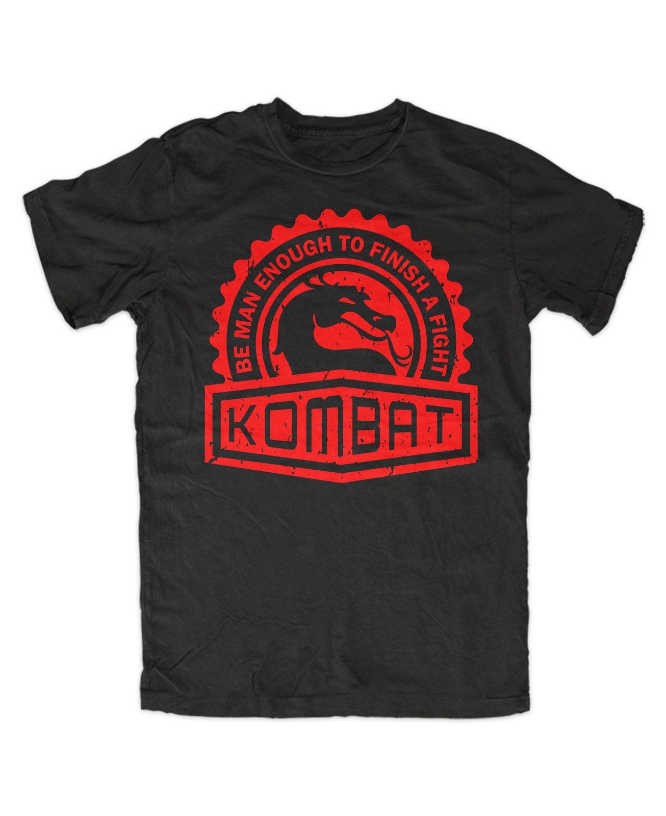 Kombat Premium T-Shirt Game,Gamer,Nerd,Retro,Fun,Kult,Arcade,Mortal