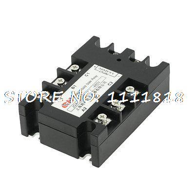 3.5-32VDC/480VAC 25A DC to AC 3 Phase SSR Solid State Relay w Indicator Light 3 32vdc 480vac 80a 3p ssr solid state relay tn1 380d w indicator light