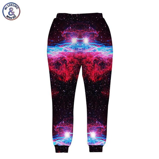 Mr.1991INC Fashion designed long trousers for men/women 3d pant funny print eating pizza cat galaxy joggers