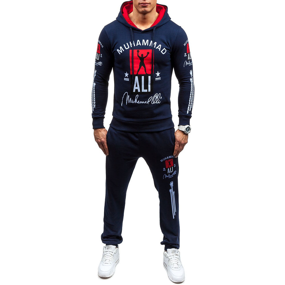 Zogaa 2018 Males Tracksuits Outwear Hoodies Zipper Sportwear Units Male Sweatshirts Males Set Tops Clothes+Pants Plus Dimension