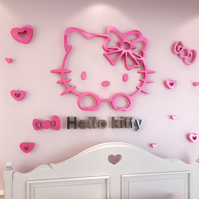 Removable 3D Hello Kitty Wall Sticker Decal Cute Cartton