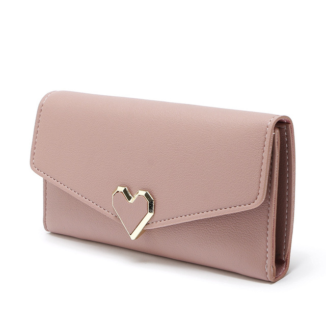 147e030982 2018 New Women Wallets PU Leather High Quality Long Design Clutch Wallet  Nude color Fashion Female