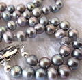 HOT 003324 4.5-5.5mm Small Gray Freshwater Pearl Necklace