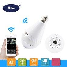 N_eye светодиодный Камера HD 1080 P 360 градусов панорамный Профессионального видеонаблюдения Камера домашние Светодиодная лампа Безопасность камера видеонаблюдения с WiFi P2