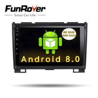 Funrover 9 2 din Android 8.0 Car Radio Multimedia dvd player gps for Great Wall Haval H3 H5 2010 2013 glonass wifi fm Quad Core