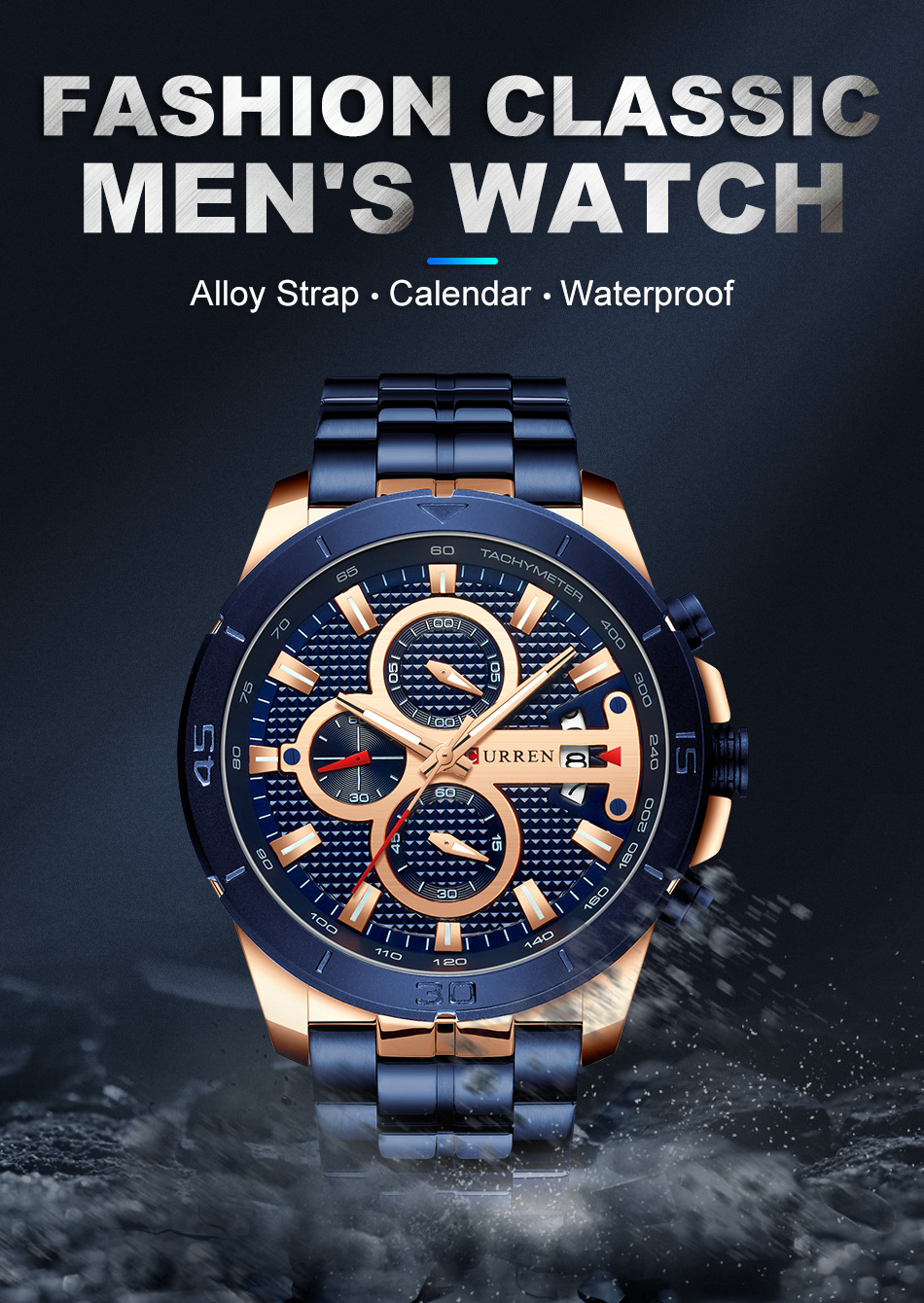 HTB1qW7hU7PoK1RjSZKbq6x1IXXaS CURREN Men Watch Luxury Watch Chronograph