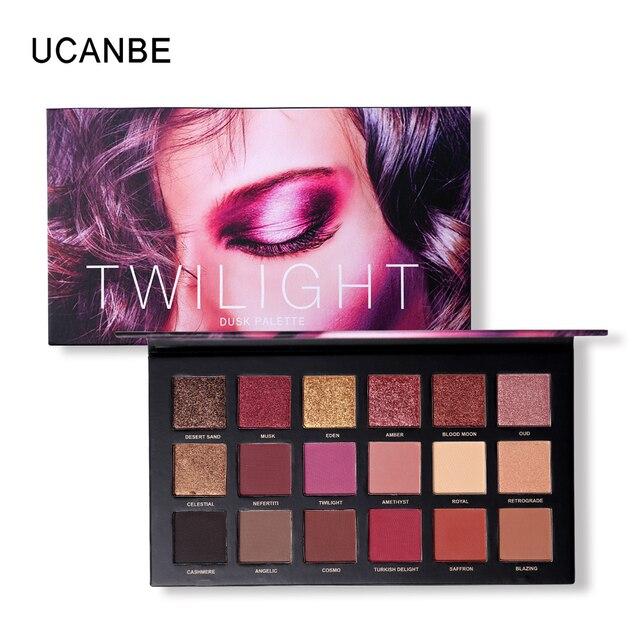 UCANBE бренд матовый блеск блестящий палитра теней ню макияж блеск пигмент Smoky Eye Shadow порошок Водонепроницаемый косметический набор