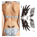 1pcs Women Beauty Body Art  Tattoo Sticker Angel Wing Pattern Waterproof Temporary Tattoo For Waist Makeup