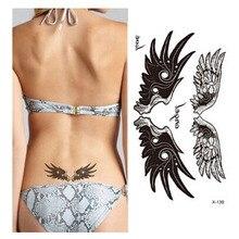 1pcs Women Beauty Body Art  Tattoo Sticker Angel Wing Pattern Waterproof Temporary Tattoo For Waist Makeup