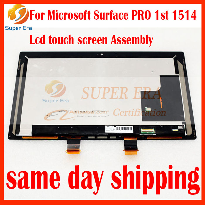 New original For Microsoft Surface PRO 1 1514 LCD Display Touch Screen Digitizer Glass Repair Parts Panel Assembly Replacement new for imac 21 5 a1418 lcd display screen w front glass assembly lm215wf3 sd d1 661 7109 661 7513 661 00156 2012 2015 year