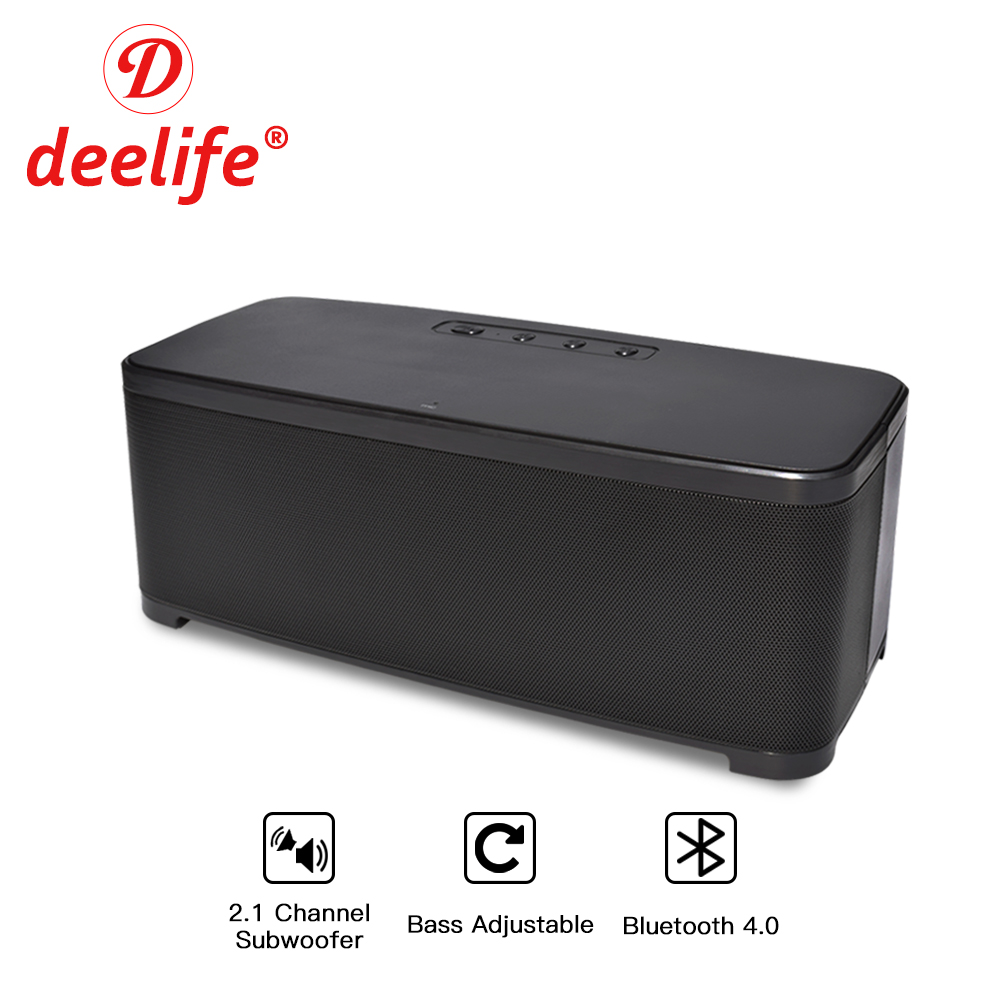 Deelife Bluetooth Speaker Subwoofer Wireless Music Column 2.1 Channel + Bass Speakers with Microphone Loudspeaker for Phones купить в Москве 2019