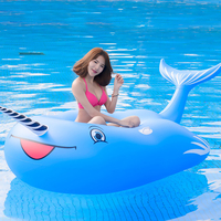 270cm Giant Blue Whale Inflatable Pool Float Lie On Swimming Ring For Children Adult Floats Air Mattress Water Party Toys boia