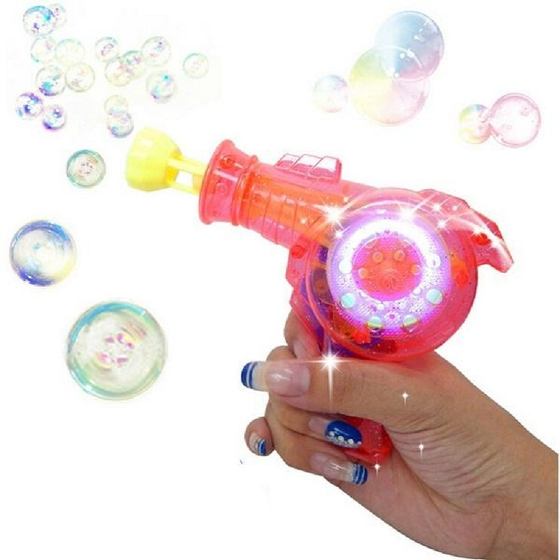 1 pcs Automatic Flashing Bubble Gun Dolphin Model Electric Rainbow Light Colorful Soap Bubbles Best Kid Outdoor Toy