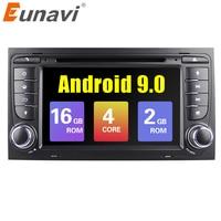 Eunavi Автомобильный мультимедийный плеер Android 9 gps Авторадио 2 Din 7 дюймов для Ford/Mondeo/Focus/Transit/C MAX/S MAX/Fiesta ГБ оперативная память DVD