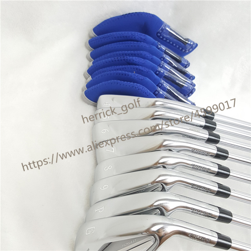8PCS JPX919  Set  Golf Forged Irons Golf Clubs 4-9PG R/S Flex Steel/Graphite Shaft With Head Cover