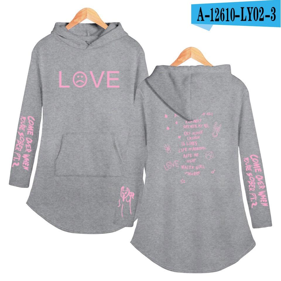 lil peep love Hoodies Sweatshirt Classic K Pop Personality Casual Sport shirt Pocket Summer Autumn Long sleeve Streetwear 14