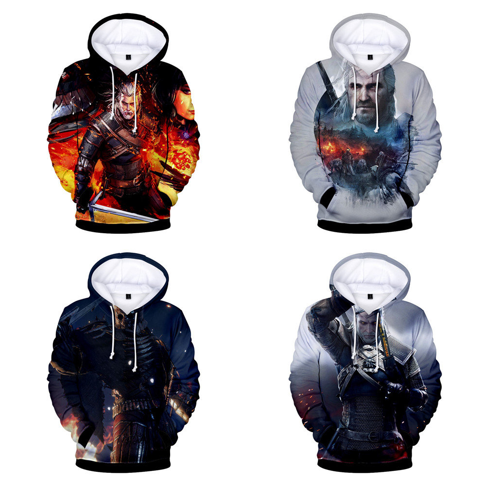 The Witcher 3: Wild Hunt Geralt of Rivia Hoodies Sweatshirts Cosplay 3D digital print couples wear hoodie Fall fashion Jackets
