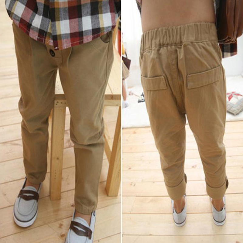 2015 Retail Boys Casual Pants Seasons Children' Khaki Color Leisure Harem