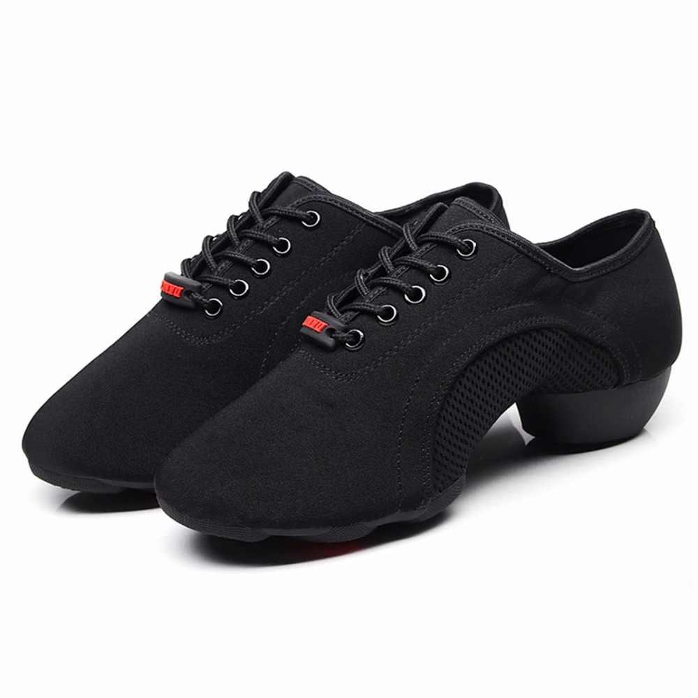 太陽リサメンズボーイの屋外オックスフォードネット布アッパーラバーソールチャンキーヒールスニーカー社交現代ラテンダンス靴