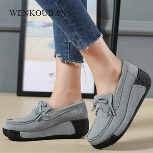 Genuine Leather Shoes Women Fl