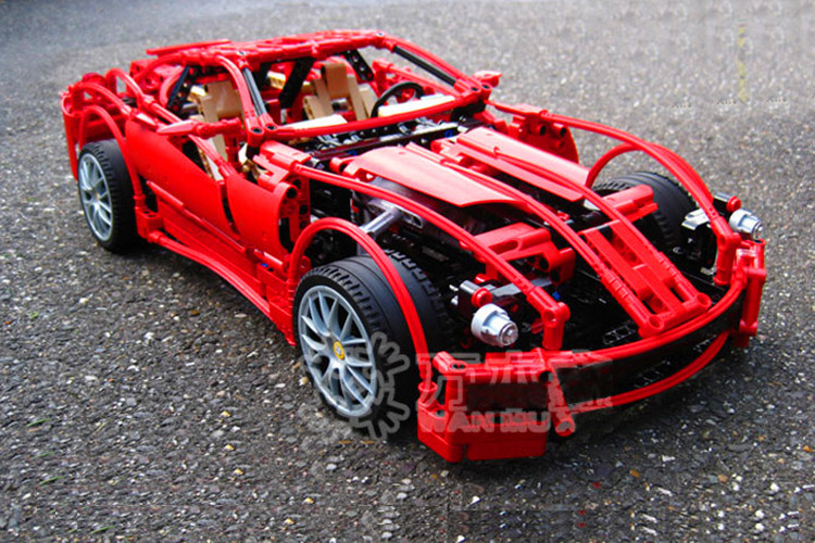 Decool 3333 racing Fer car rari model series 1:10 Building Blocks Set 1322pcs Educational Jigsaw Enlighten DIY toys for children fer de lance