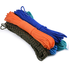 5 colors Paracord 550 Paracord Parachute Cord Lanyard Rope  Mil Spec Type III 7 Strand 100FT Climbing Camping survival equipment