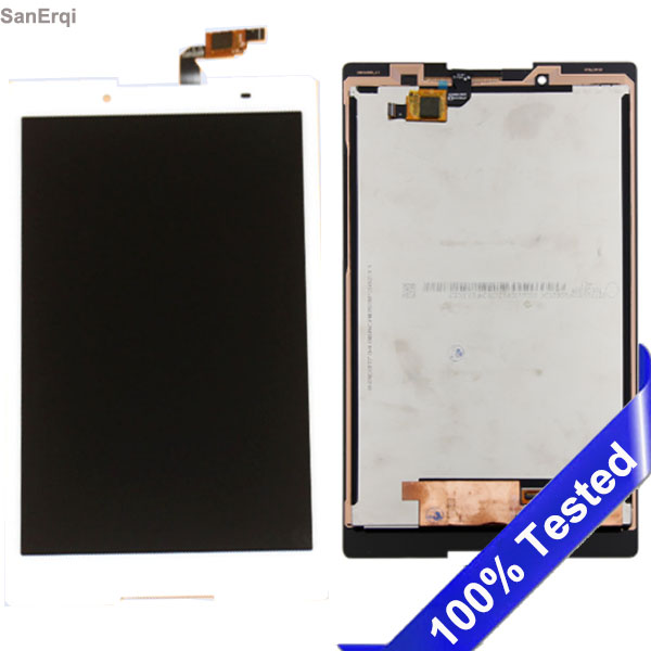 LCD Screen Mobile Phone and Digitizer Full Assembly with Frame for Lenovo Tab 2 A8-50 A8-50F A8-50LC Color : White White