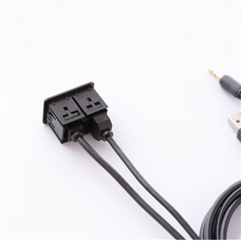 Image 3 - Biurlink Car DIY Flush Mount Jack AUX USB Female to Male Extension Cable Charging for Toyota Honda for iPhone Android Smartphone-in Car Switches & Relays from Automobiles & Motorcycles