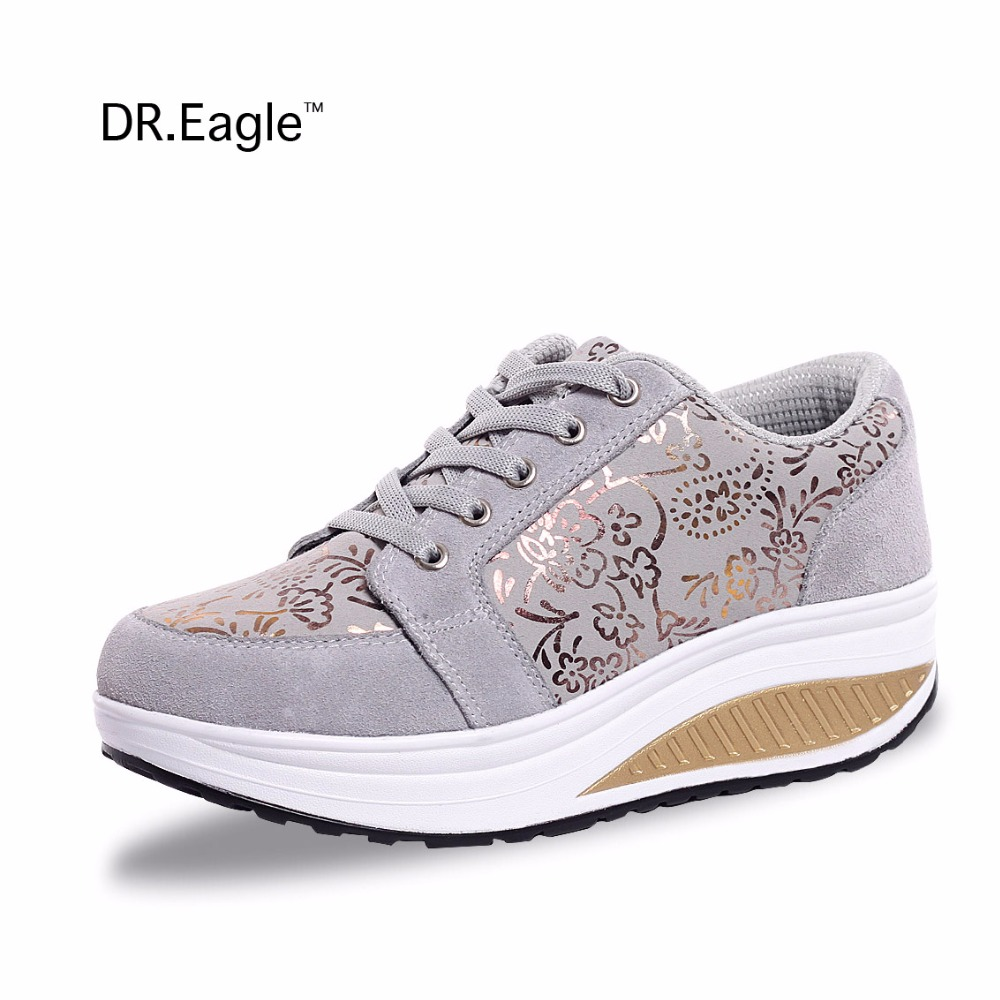 DR.EAGLE Outdoor ladies sports shoes for women sneakers trainers lose weight wedge sneaker fitness shoes SPORT krasovki WOMAN