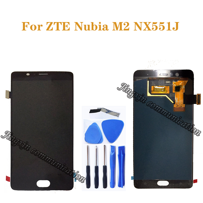 "5.5"" AMOLED display for ZTE Nubia M2 NX551J LCD + touch screen digitizer assembly for ZTE Nubia M 2 display repair parts(China)"
